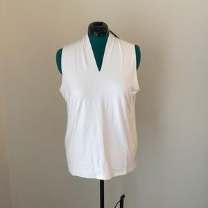 (XL) Talbots White V neck Tank Top